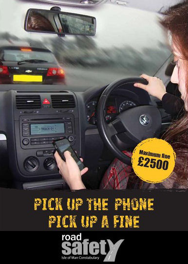 Driving whilst using a mobile